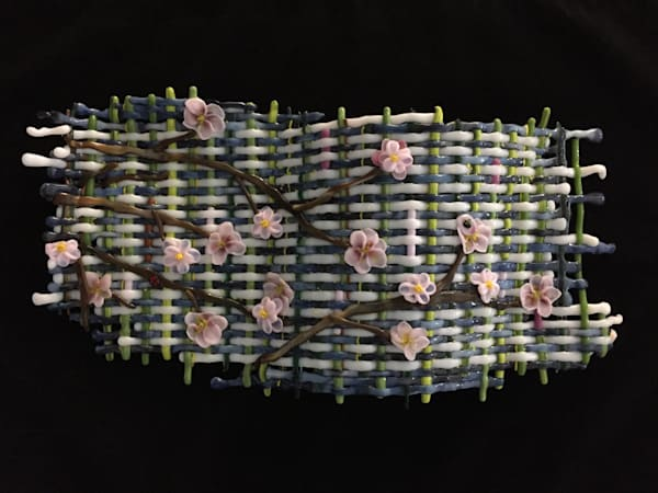 Woven Cherry Blossoms Art | Art a la Carte Gallery (Karen Rexrode, Manager)
