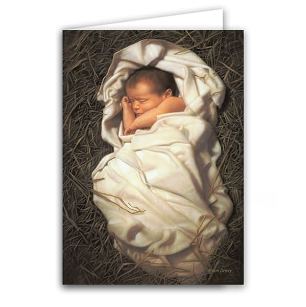 "Simon Dewey ""For Unto Us a Child is Born"" Christmas Greeting Card Box"