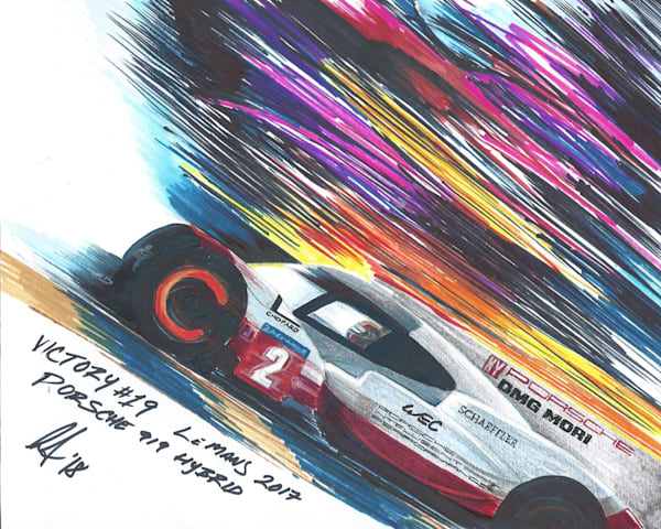 Porsche 919 Victory 19 - Color Comp | Motorart 27 Alex Wakefield Fine Art