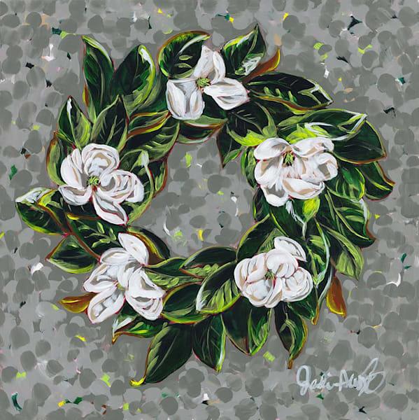 Magnolia Wreath Art | Jodi Augustine Art