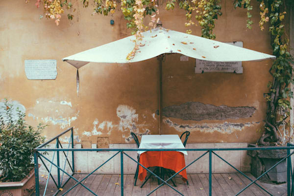 Roman Table For Two | Kirby Trapolino Fine Art Photography