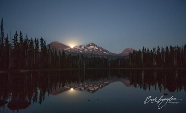 Moonrise over Scott Lake Fine Art Photo for Sale | Barb Gonzalez Photography
