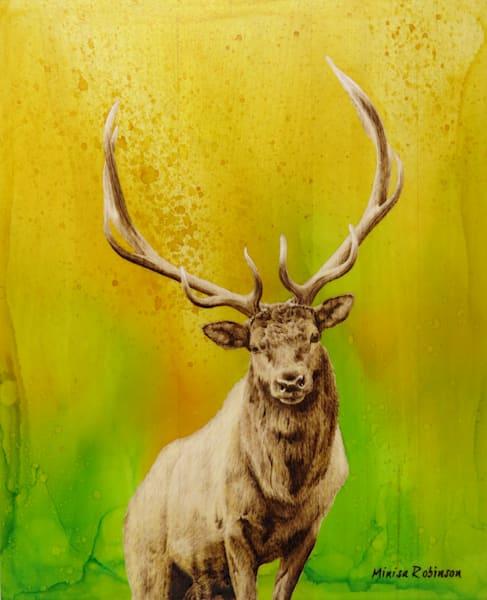 Elk Print Art | Minisa Pyrography