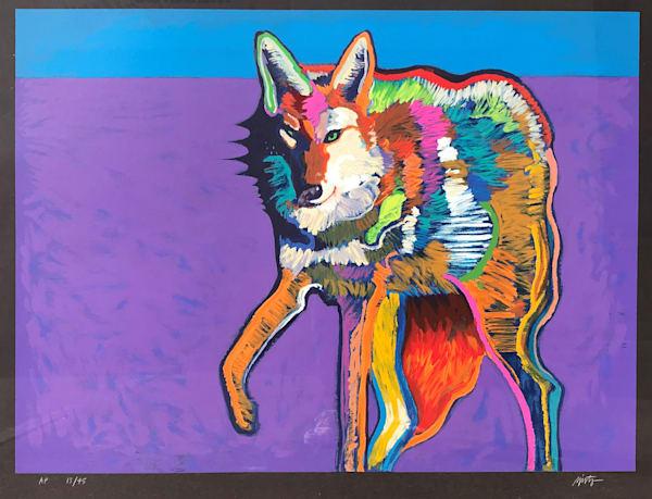 John Nieto Serigraph Coyote Large Framed Print