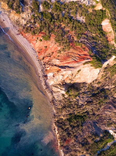 """Over Gay Head Bluffs II"" Aerial Martha's Vineyard Fine Art Moshup Beach Photograph"