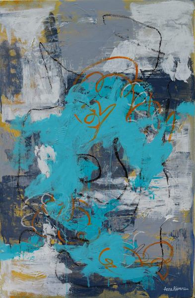 The Deep Abstract Color Art for sale | Anne Rivers