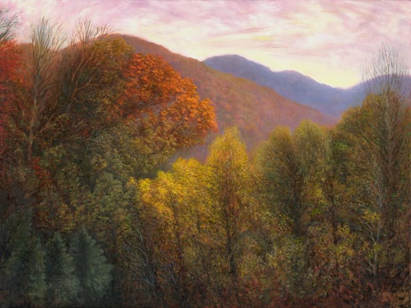 Swannanoa Autumn Scene - Original Oil Painting by Fine Artist Jason Rafferty, based in Asheville, NC