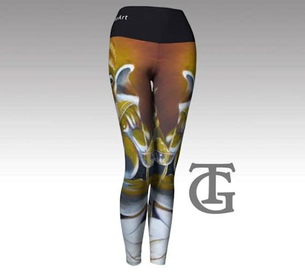 Yoga Pants - Ganesha