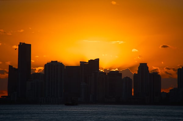Miami Skyline at Sunset