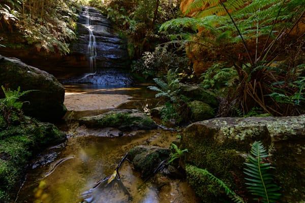 Waterfall Pool Of Siloam - Leura Blue Mountains National Park NSW Australia | Watefall