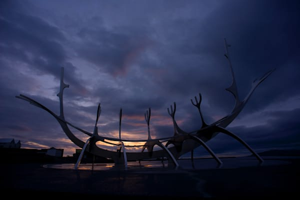 Voyager Sunset - Sun Voyager Reykjavik Iceland | Sunset