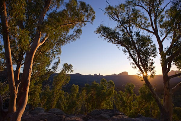 Warrumbungle Sun Star - Warrumbungle National Park NSW Australia - Sunset