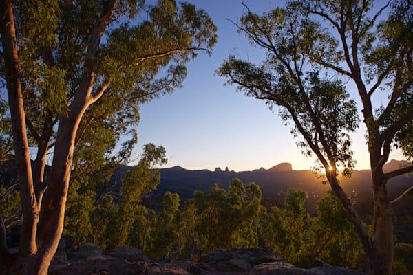 Warrumbungle Sun Star - Warrumbungle National Park NSW Australia - Sunset