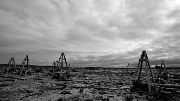 The Remains - Near Grindavikurvegur Iceland | Black & White