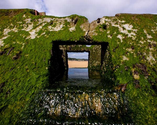Through The Outlet - Omaha Beach Near Saint Laurent Sur Mer Calvados Normandy France | Limited Edition