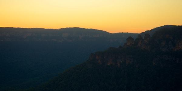 Sisters Sunset - Echo Point Blue Mountains National Park Katoomba NSW Australia | Sunset