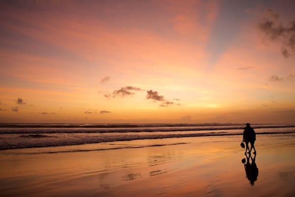 Romantic Walk - Double Six Beach Seminyak Bali Indonesia | Sunset