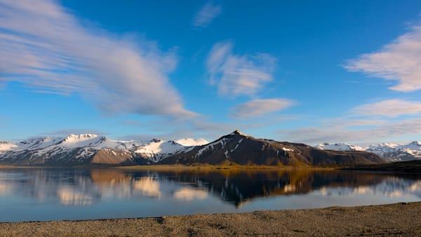 Reflected Range - Kolgrafarfjördur Near Grundarfjordurr Iceland