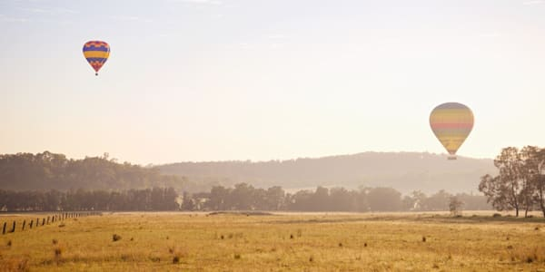 Rural Landing - Pokolbin Hunter Valley Wine Country NSW Australia | Hot Air Balloon