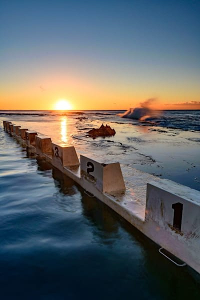 Off The Blocks - Merewether Ocean Baths NSW Australia | Sunrise