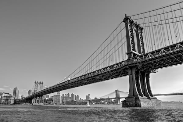 Manhattan Bridge - Brooklyn NYC New York USA | Black & White