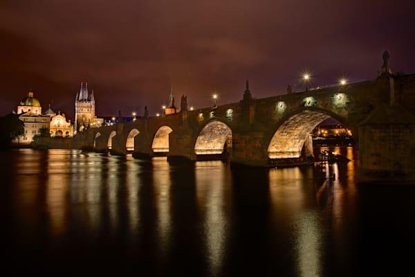 Karluv Most - Praha Charles Bridge Prague Czech Republic | Limited Edition Nightscape