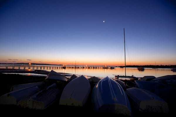 Hulls At The Ready - Soldiers Point Port Stephens NSW Australia | Sunset