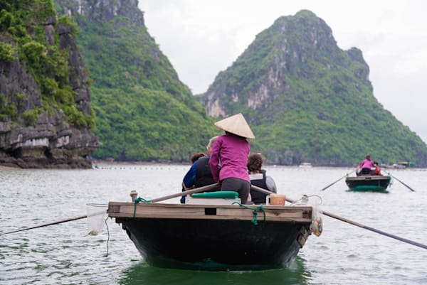 Halong Rowing - Vung Vieng Floating Fishing Village Halong Bay Vietnam
