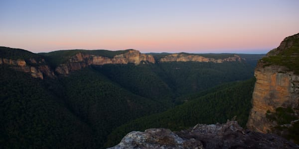 Grose Valley In Pastel - Walls Lookout Blue Montains National Park NSW Australia | Sunrise