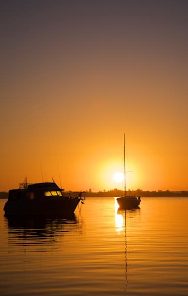 Golden Silhouette - Wangi Wangi Lake Macquarie NSW Australia | Sunrise