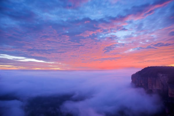 Govetts Sky Show - Blackheath Blue Mountains National Park NSW Australia | Sunrise