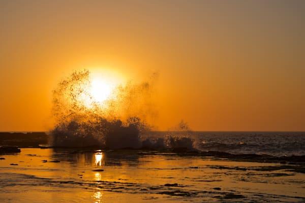 Golden Breaker - Susan Gilmore Beach (Bar Beach) Newcastle NSW Australia | Sunrise Limited Edition
