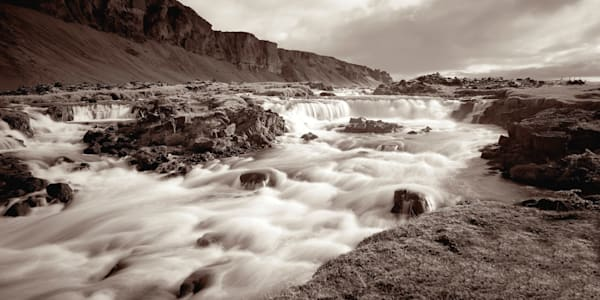 Free Flow - Iceland | Waterfall Sepia Limited Edition