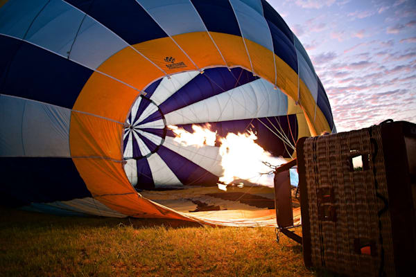 Flaming Dawn - Pokolbin Hunter Valley Wine Country NSW Australia | Hot Air Balloon