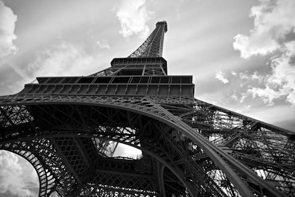 Eiffel Perspective - Eiffel Tower Paris France | Black & White