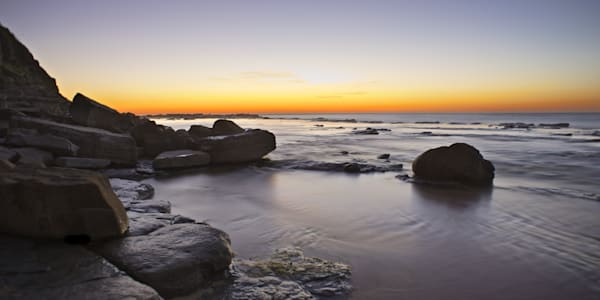 Dawns Kiss - Susan Gilmore Beach (Bar Beach) Newcastle NSW Australia | Dawn Sunrise