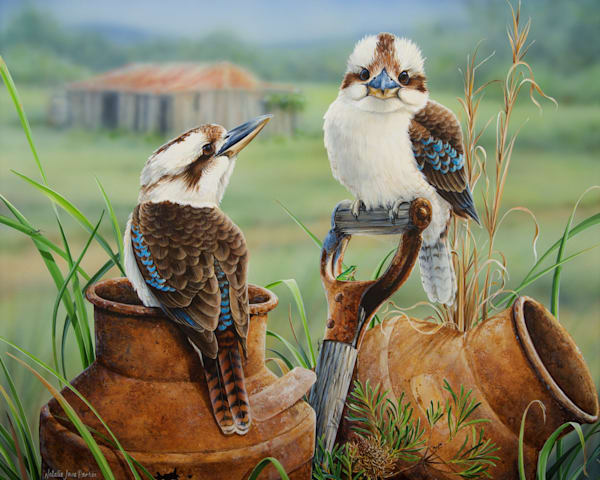Countrysiders - Laughing Kookaburra's | Natalie Jane Parker Australian Native Fauna Print