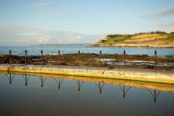 Canoe Reflections - Newcastle Ocean Baths NSW Australia