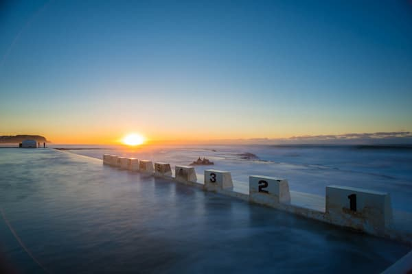 Baths Sunrise - Merewether Ocean Baths Newcastle NSW Australia | Sunrise