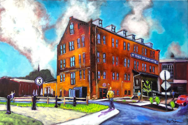 Third Street Brewing High Bridge Lofts Farmville | Fine Art Painting Print by Rick Osborn