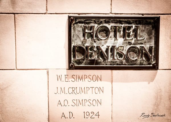 Hotel Denison Plaque | Randy Sedlacek Photography