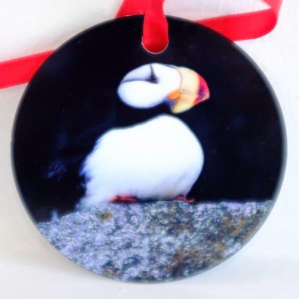 Puffin Alaska metal ornament