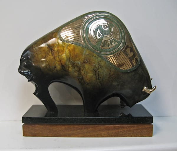 Ni-Ai My Shelter, My Protection Bronze Bison