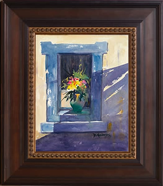 Pot in the Blue Window Framed Art