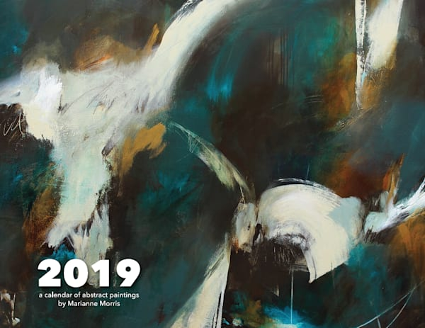 A 2019 wall calendar of abstract art images