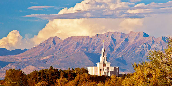 Payson Temple and Mount Timpanogos