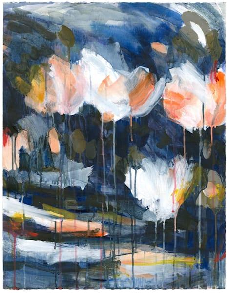Mud & Peonies I   Paper Art | Caroline Wright Art
