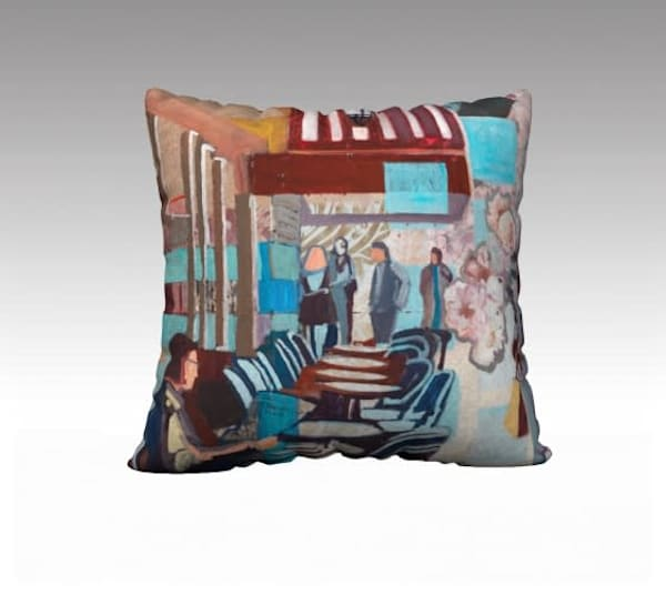 Cafe Pillow Cover | memoryartgirl