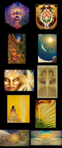 Psychedelic Notecard Set | markhensonart