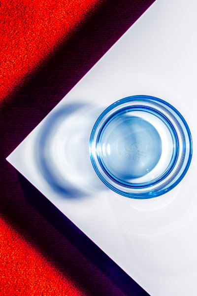 Red White Blue Glass